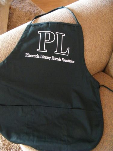 Heat-pressed apron, done in-house.  (small minimum)