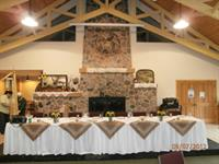 Arrowhead Main Hall - Wedding Table Setup