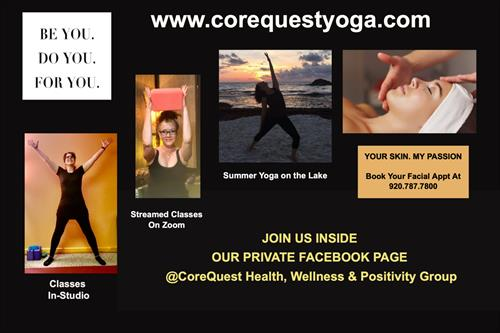 Sign up for our Yoga Classes on our website. Call our spa directly to reserve your facial appointments.