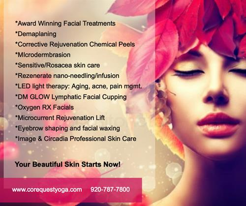 Check out our award winning boutique facial skin care studio. Transformation, relaxation and magic happens here!