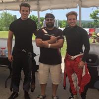 working on pro racers Max Hanratty and Victor Franzoni