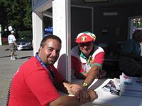volunteer at Milwaukee's Festa Italiana, here with my godfather
