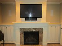 "Master Bedroom 50"" Flat Panel TV with Surround Sound System"