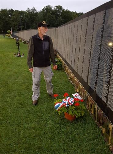 When the Vietnam War's Moving wall visited Amherst July 19-23, several Lions signed up to perform guard duty in the field, including Lion Ollie Holt who served a tour in Vietnam with New Hampshire National Guard's 197th Field Artillery. The Moving Wall was last in New Hampshire in 2017.