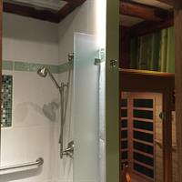 Detoxification Far Infra-red sauna and post sauna shower (rinses off the toxins)