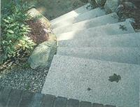 Spiral granite steps