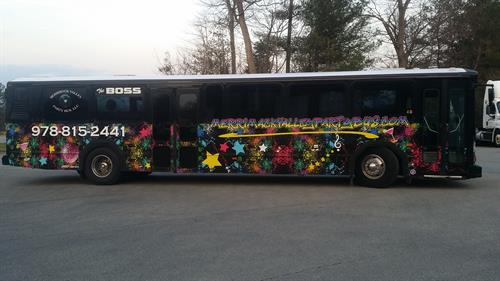 Party bus designed and installed in house