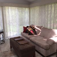 Woven Wood Drapery to Cover Large Windows and Sliding Glass Doors