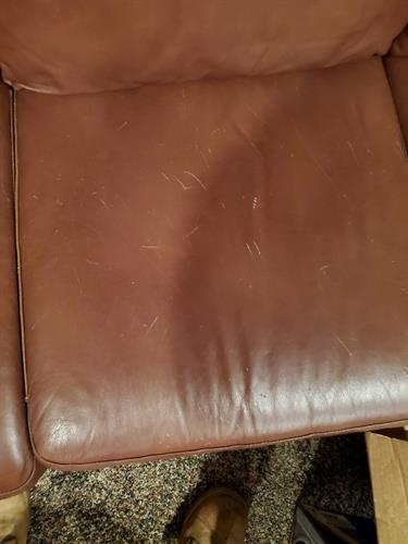 7 piece sectional with cat scratches
