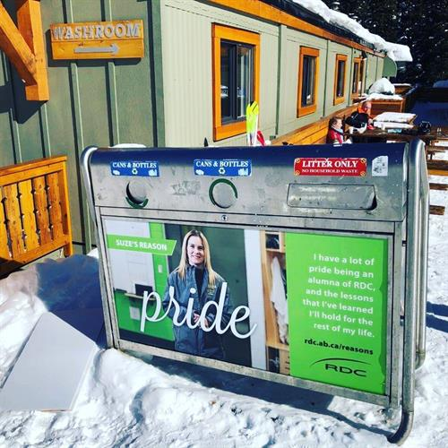 Ski Hill Signage - Recycle Bins