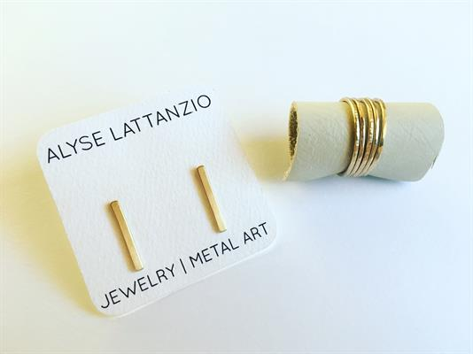 Bar Stud Earrings & Stacking Rings by Alyse Lattanzio