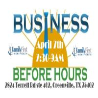 POSTPONED/Business Before Hours at Family First Home Health