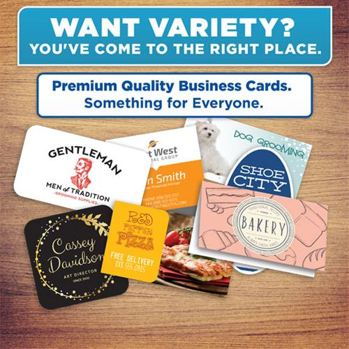 All types of business cards