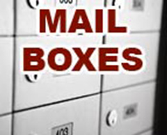 Mail boxes for rent