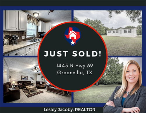 Lesley Jacoby sold this home in north Greenville Texas!!