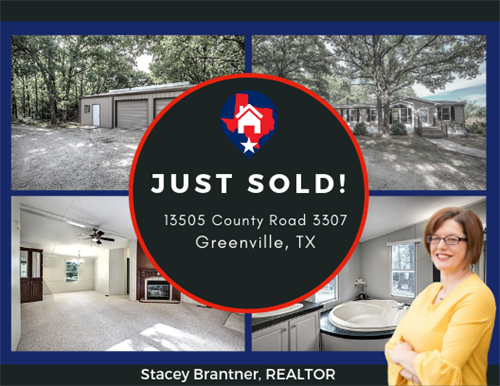 Stacey Brantner sold this lovley country home in Greenville Texas