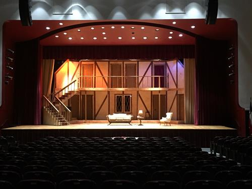 "Rotating Set for Greenville Theatre Works production of ""Noises Off"""