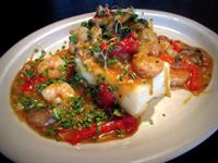 From our BRUNCH menu, Shrimp and Grits