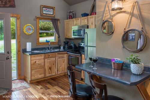 A King size cabin kitchen.