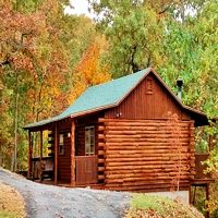 Cozy Log Cabins in the Beaver Lake Area of Eureka Springs, Arkansas