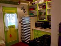 Kitchen with back door