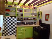 Colorful and whimsical, newly updated  kitchen