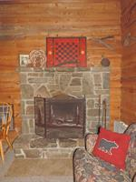 Fireplace in cabin 2