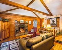 8  cabins with wood burning fireplace, each with its own unique theme
