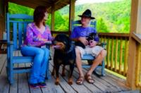 Covered private porches & pet friendly