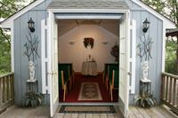 Chapel Interior from the front French doors