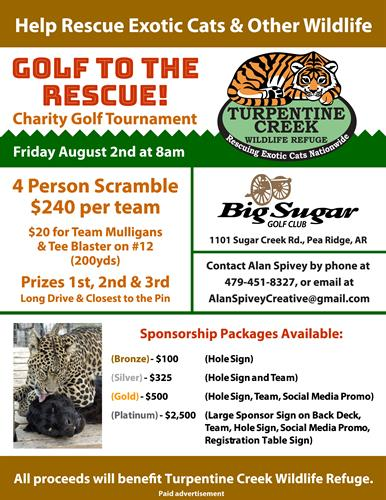 2nd Annual GOLF TO THE RESCUE! Charity Golf Tournament - Aug 2, 2019