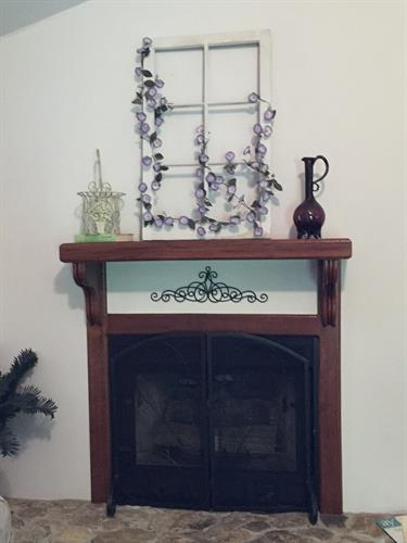 Updated fireplace in Woodland Violets