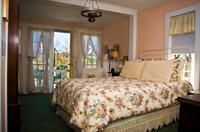 Master bedroom opens to deck.