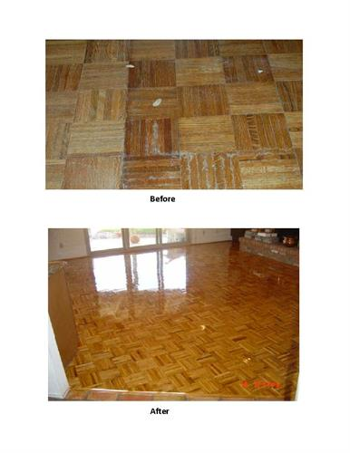 New surface over wood floor.