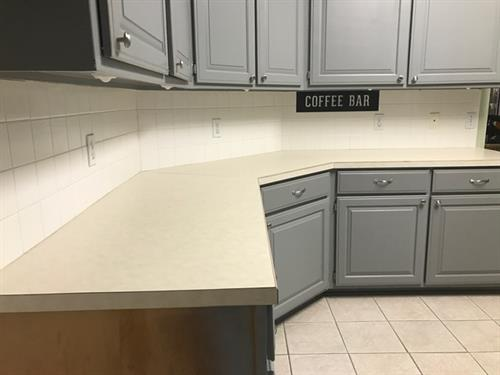 Before - White laminate counter top
