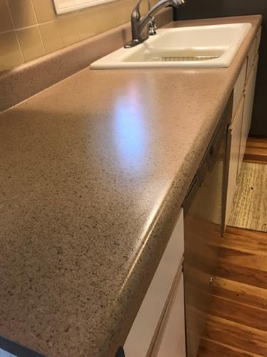 After - Cliff Rock Multi-Stone counter top - Don't replace, RESURFACE Instead