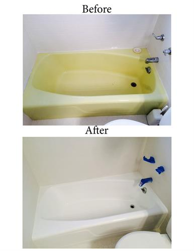 Color change on bathtub - RESURFACE existing for updated look