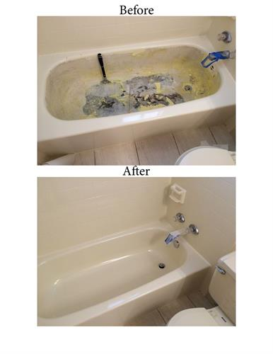 Repair damaged tubs.