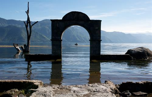 Arch at Lake Atitlan - Guatemala
