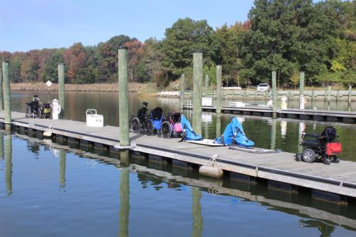 Empty wheelchairs mean our guests are having a great time sailing.