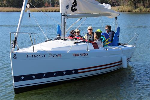 CRAB's new Beneteau First 22A's with guests