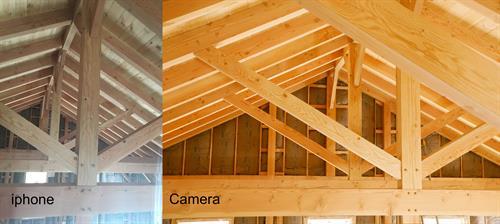Construction- Trusses iphone vs Camera