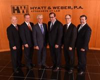 Hyatt & Weber Partners (from left to right): Stephen Stern, Mark Rosasco, Alan Hyatt, Paul Weber, Gregg Weinberg, Chris Buck