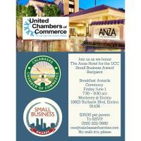 The Anza Hotel UCC Small Business Award Recipient