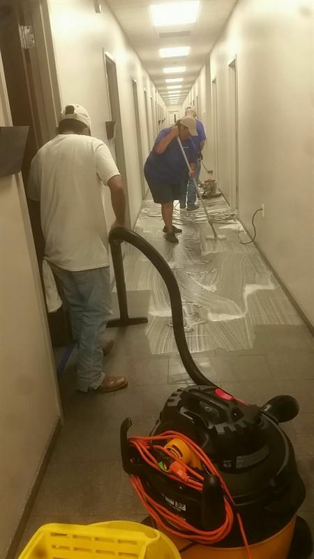 Striping and wax floors