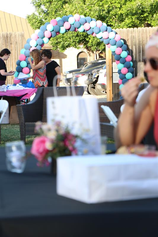 Local business sponsors contributed decor, food, beverage as well as promotional items for swag bags at the inaugural Midland AF Community T-Shirt Design Drop Party
