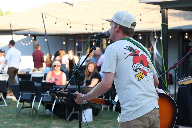Treaty Oak Revival performing at at Inaugural Midland AF Community T-Shirt Design Drop Party