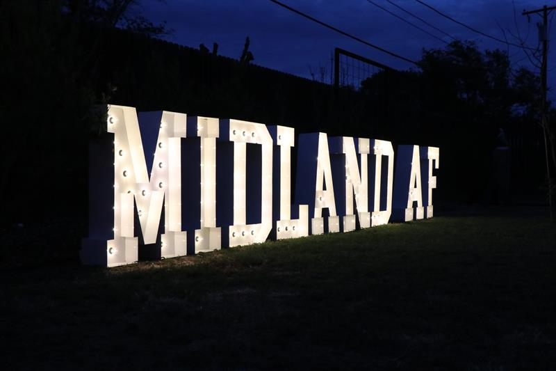 Inaugural Midland AF Community T-Shirt Design Drop Party hosted at the Arts Council of Midland