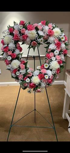 Sympathy Easel by All Flowered Up Too