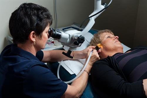 We clean ears using microsuction